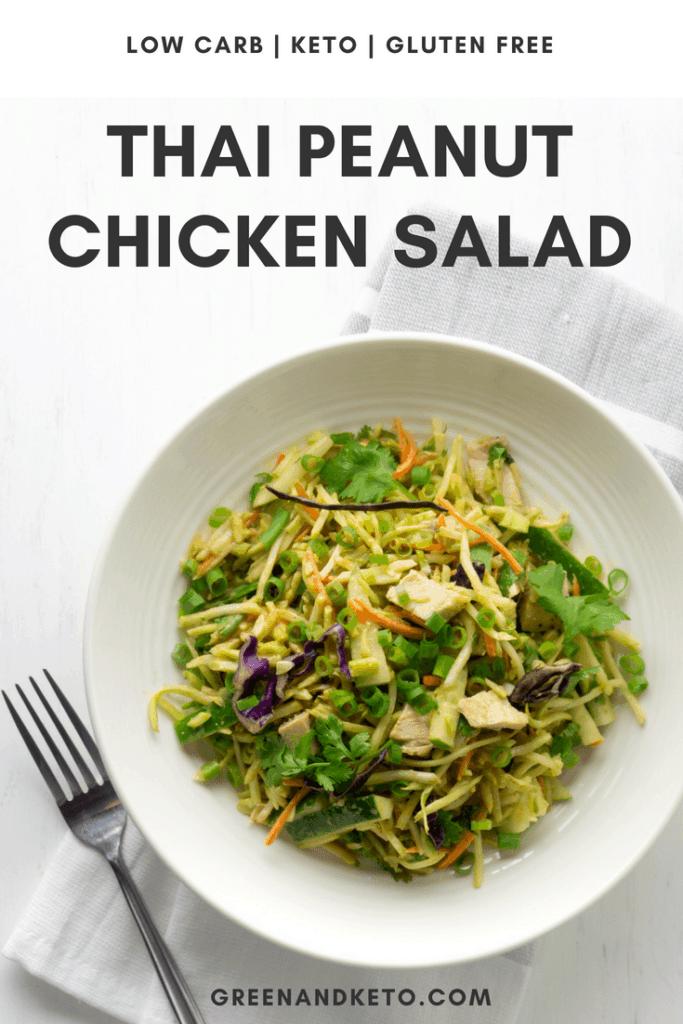 Keto Thai Peanut Chicken Salad
