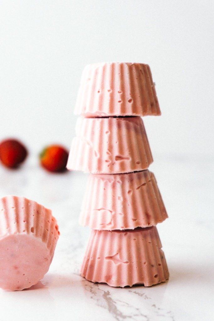 Strawberry Cheesecake Fat Bombs -- Keto and Gluten Free