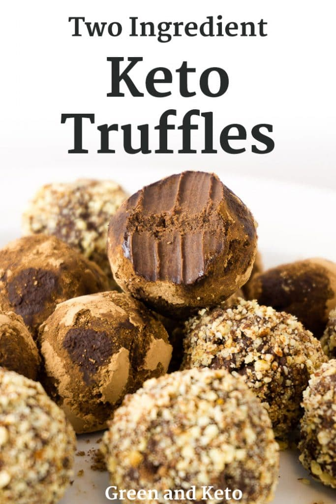 Two Ingredient Keto Chocolate Truffles