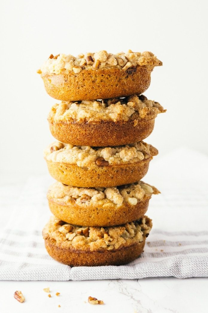 stack of low carb doughnuts