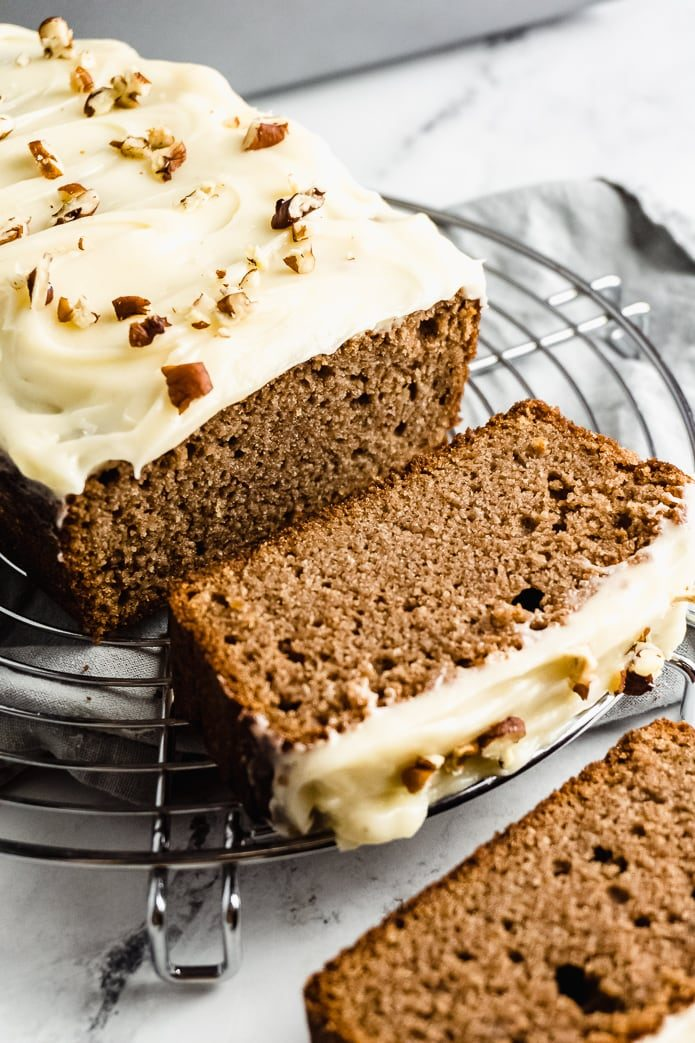 keto gingerbread cake with cream cheese icing