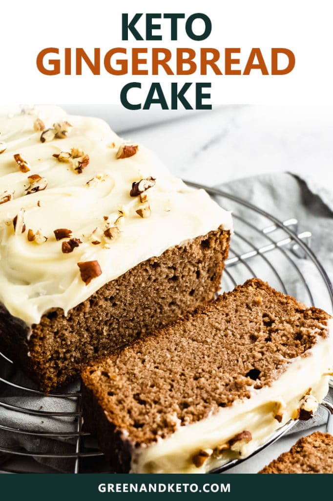 Keto Gingerbread Loaf Cake with Cream Cheese Frosting
