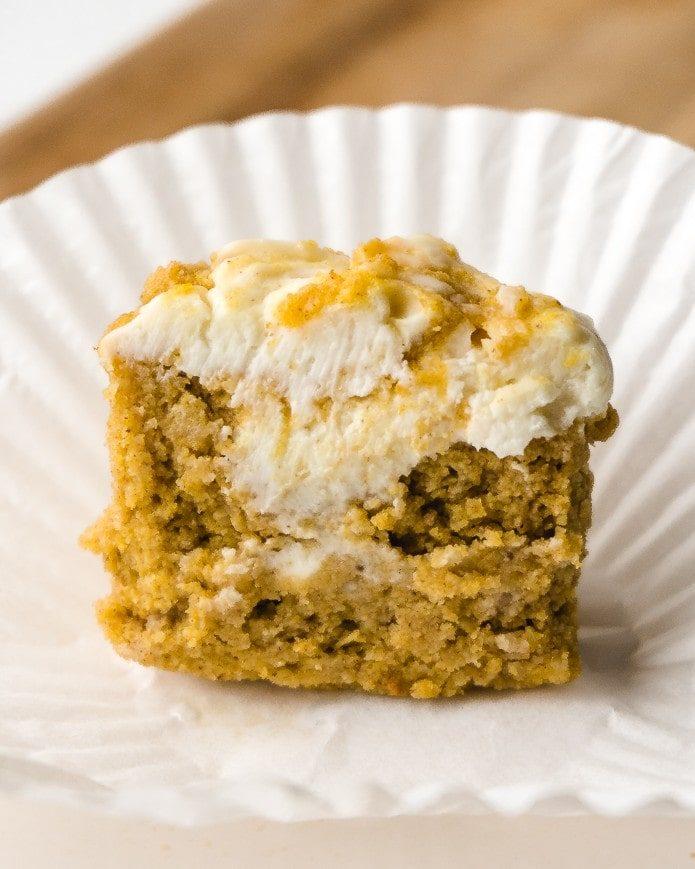 pumpkin spice cream cheese muffin