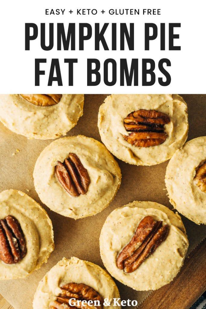 Pumpkin Pie Fat Bombs
