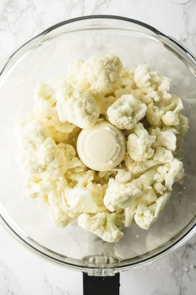 how to make cauliflower rice with a food processor