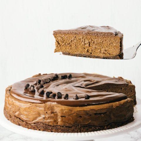 Keto Triple Chocolate Cheesecake