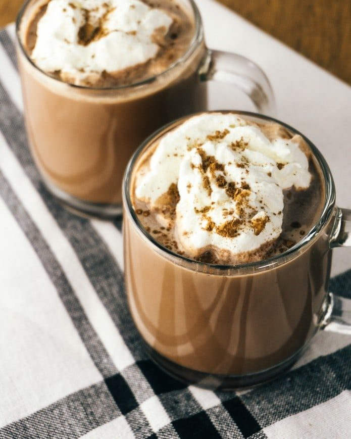 keto hot chocolate with whipped cream