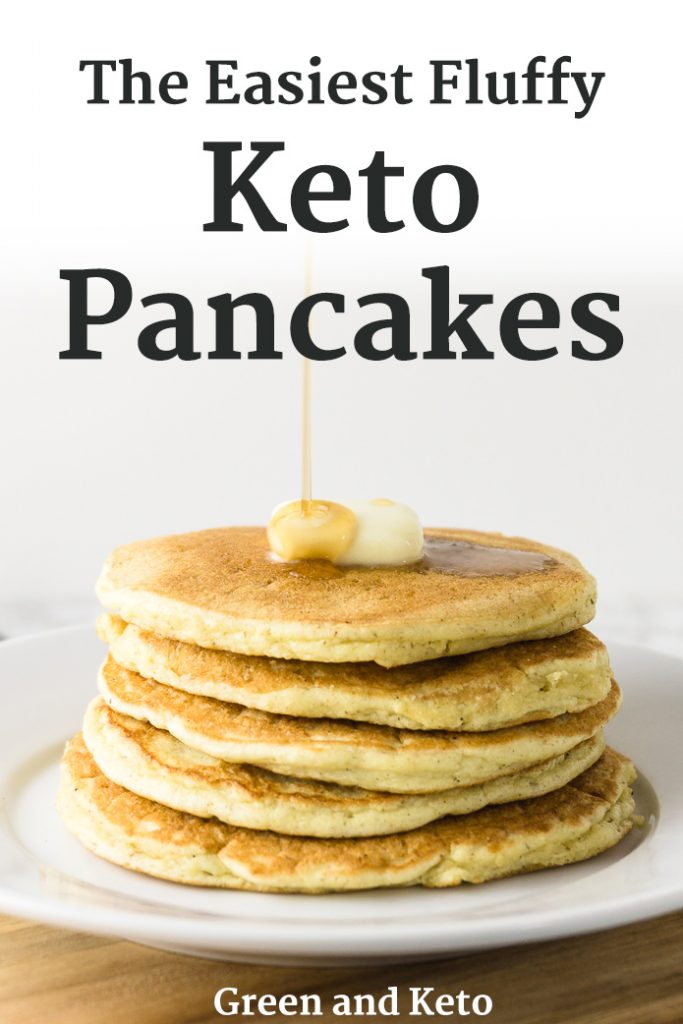 Fluffy Keto Pancakes made with Coconut Flour