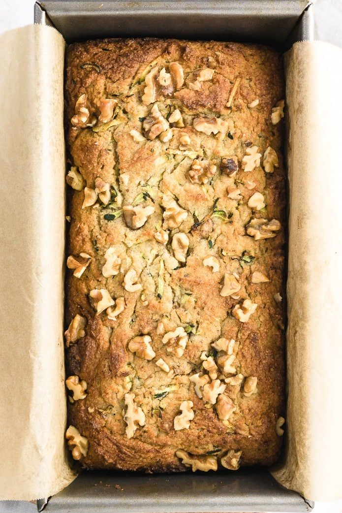 keto zucchini bread recipe with walnuts, gluten-free