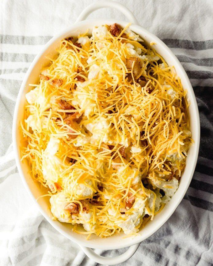 cheesy keto cauliflower bake