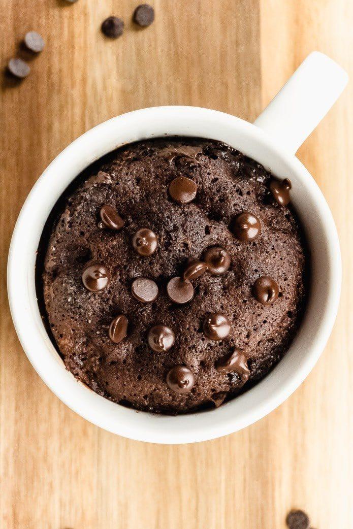 easy keto mug cake in the microwave