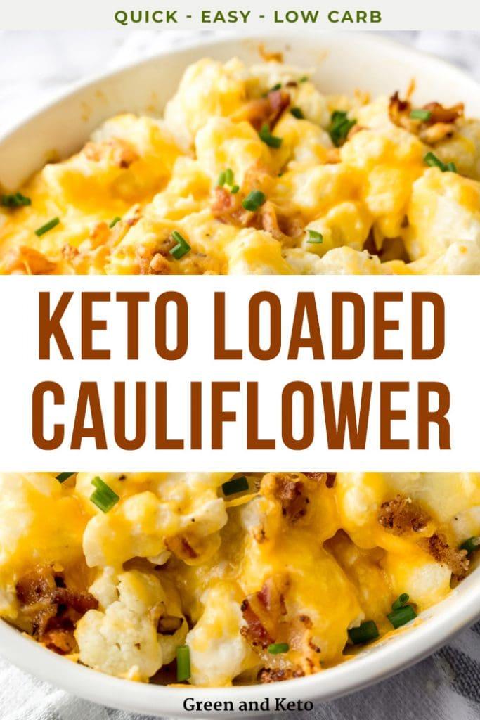 Keto Loaded Cauliflower Casserole