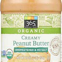 365 Everyday Value, Organic Creamy Peanut Butter Unsweeteend & No Salt, 16 Ounce
