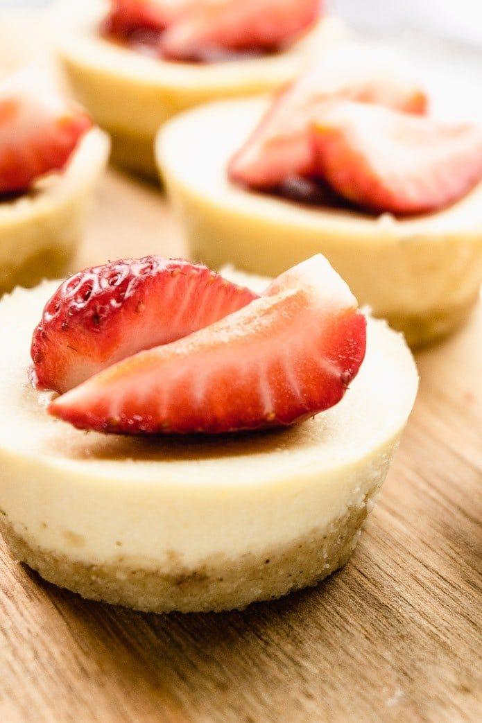 close up of keto cheesecake bites
