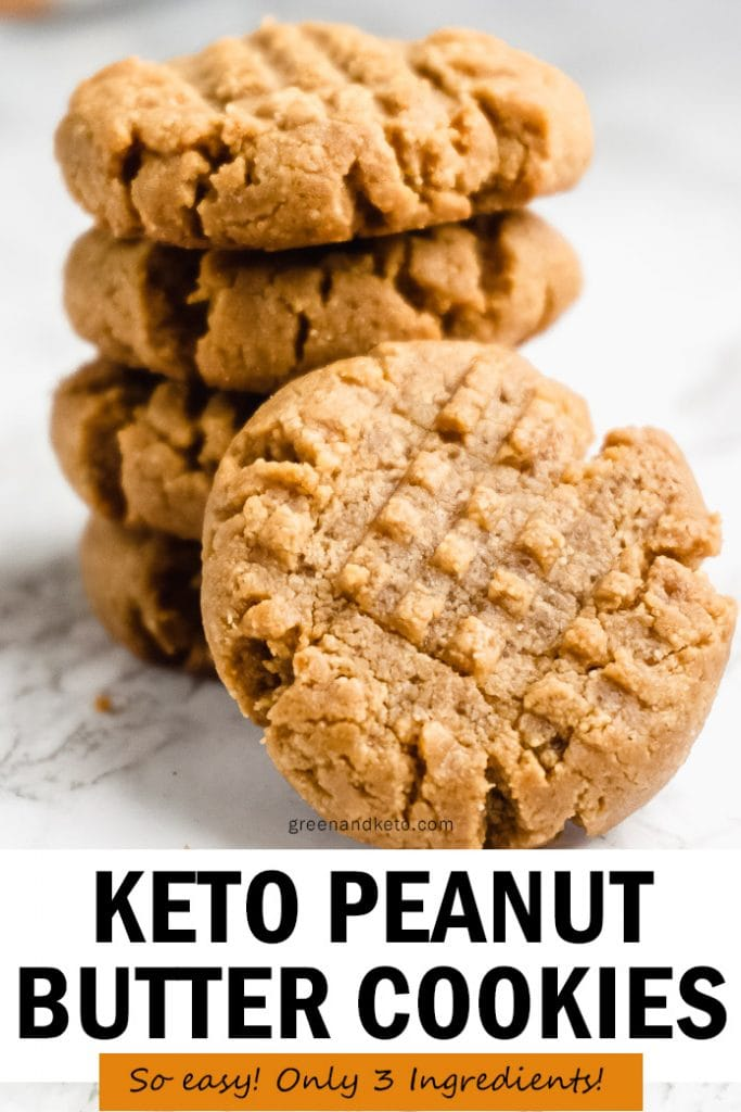 Keto Peanut Butter Cookies (Only 3 Ingredients!)