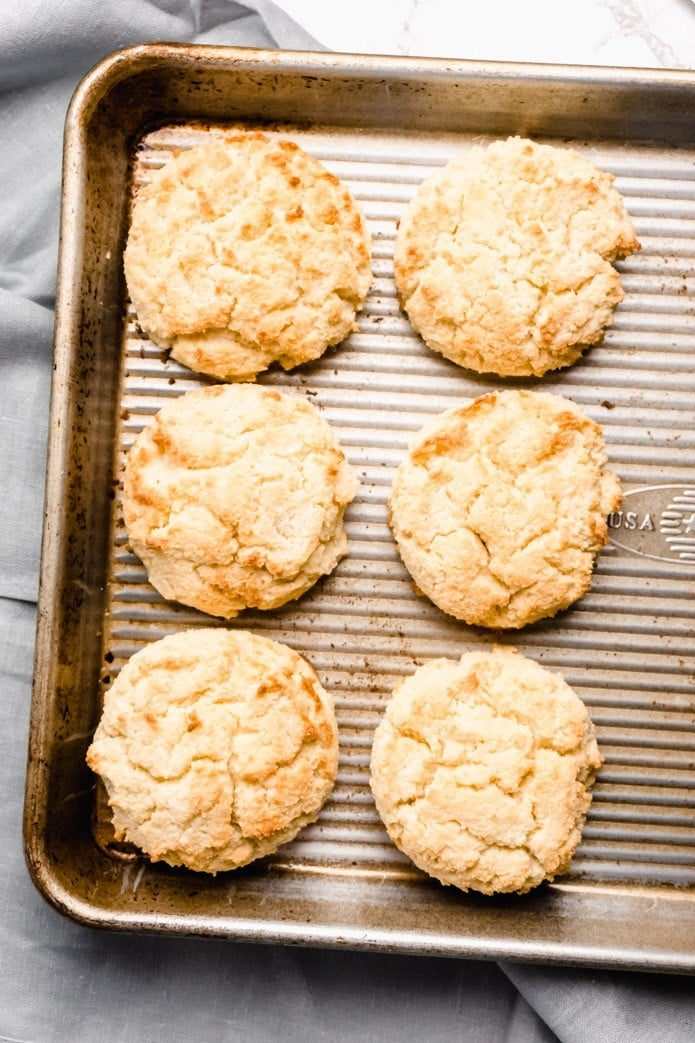 low carb keto biscuits made with almond flour
