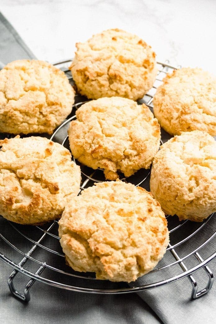 coconut and almond flour keto biscuits
