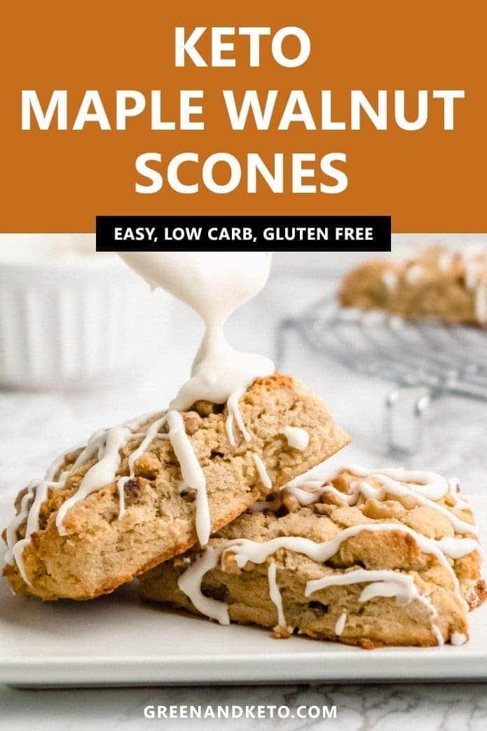 keto maple walnut scones are low carb