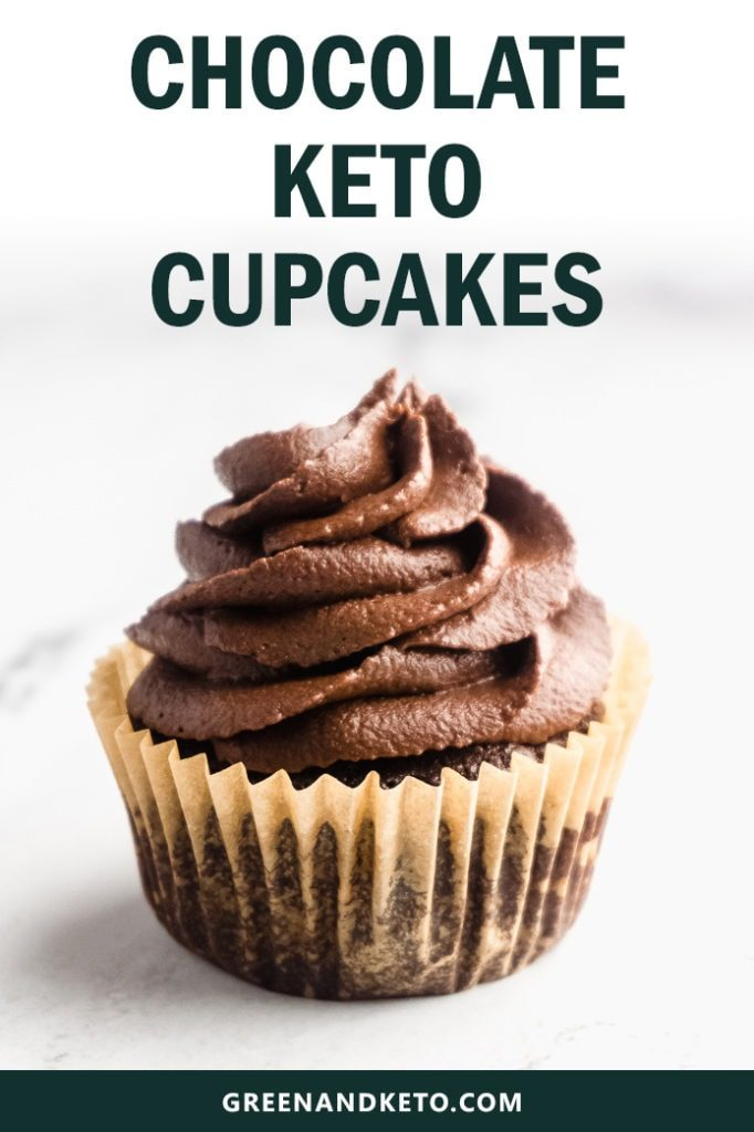 Keto Chocolate Cupcakes with Buttercream Frosting