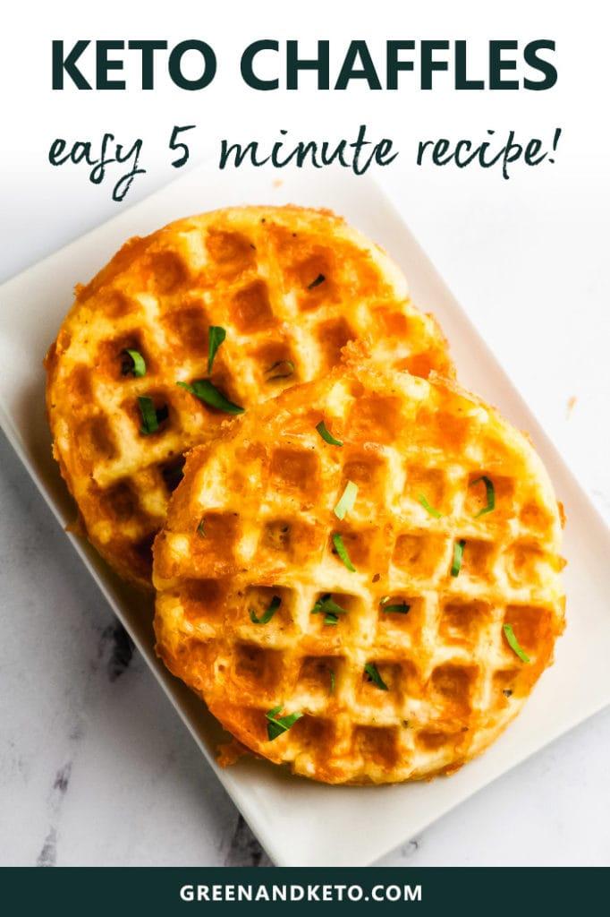 Easy Keto Chaffles Recipe (5 Minute Cheddar Waffles!)