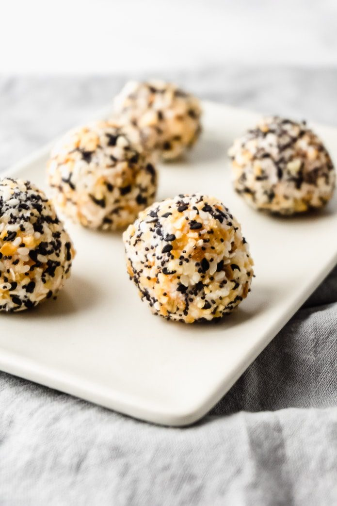 Everything Bagel keto fat bombs made with cream cheese