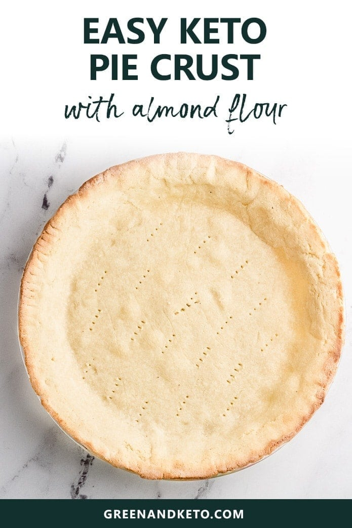 easy keto pie crust made with almond flour