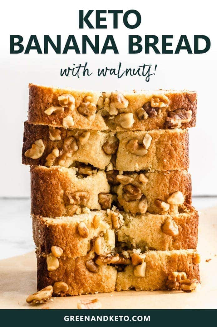 keto banana bread recipe with or without walnuts