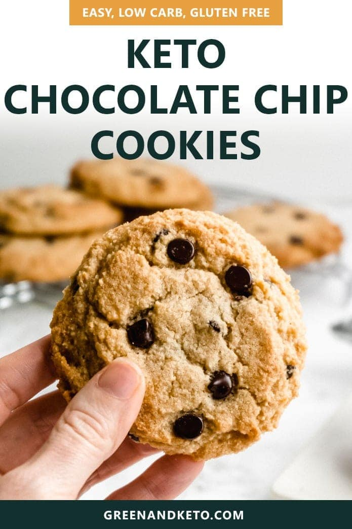 pin image for low-carb chocolate chip cookies