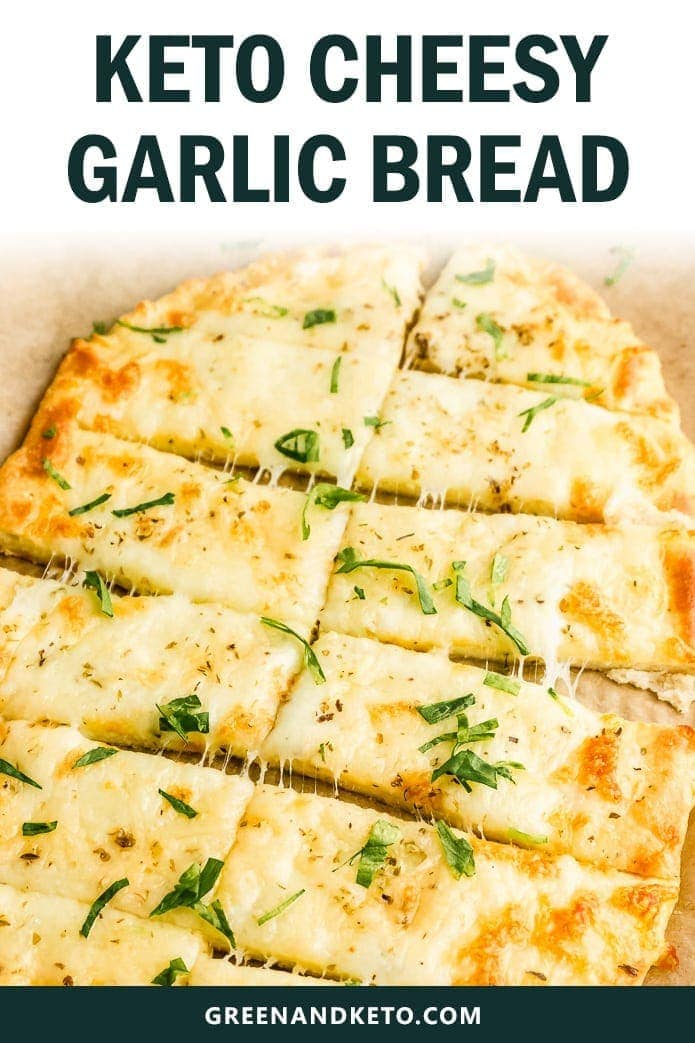 keto cheesy garlic bread is gluten free and low carb