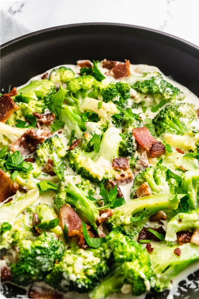 easy keto broccoli with cheese sauce
