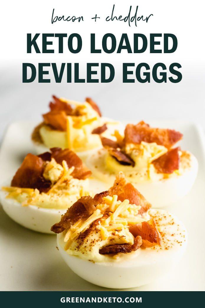 bacon and cheddar keto deviled eggs