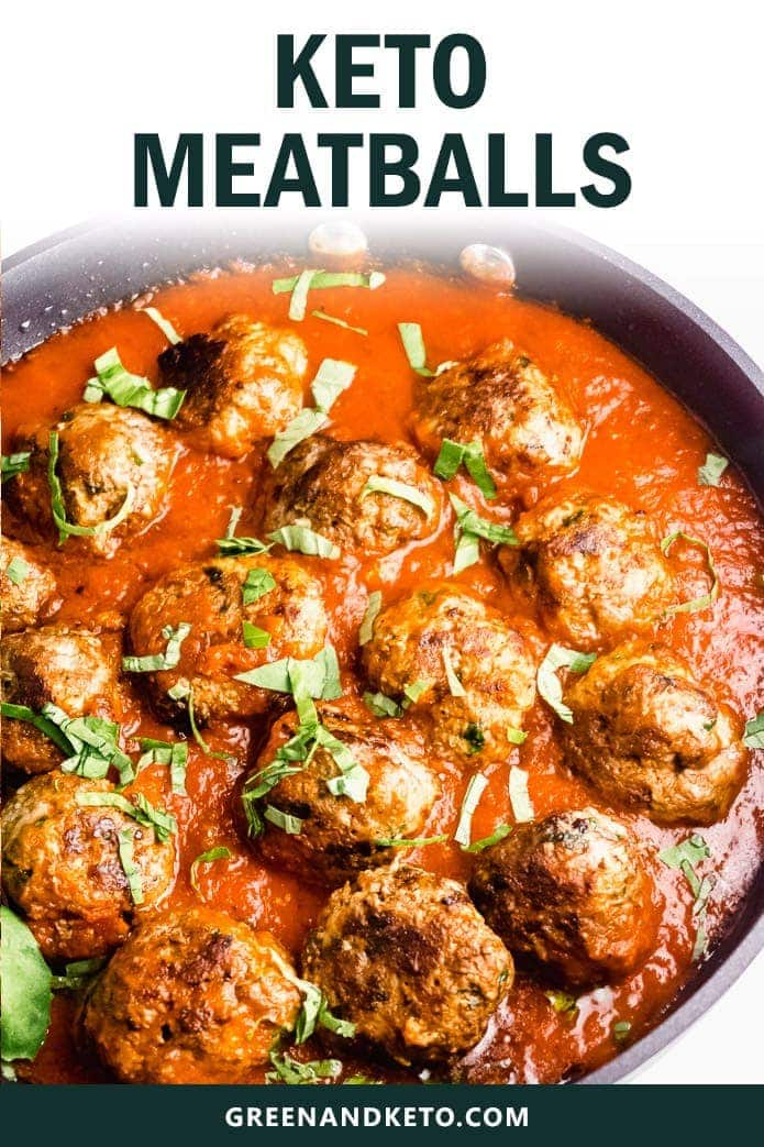 keto meatballs made without breadcrumbs in tomato sauce