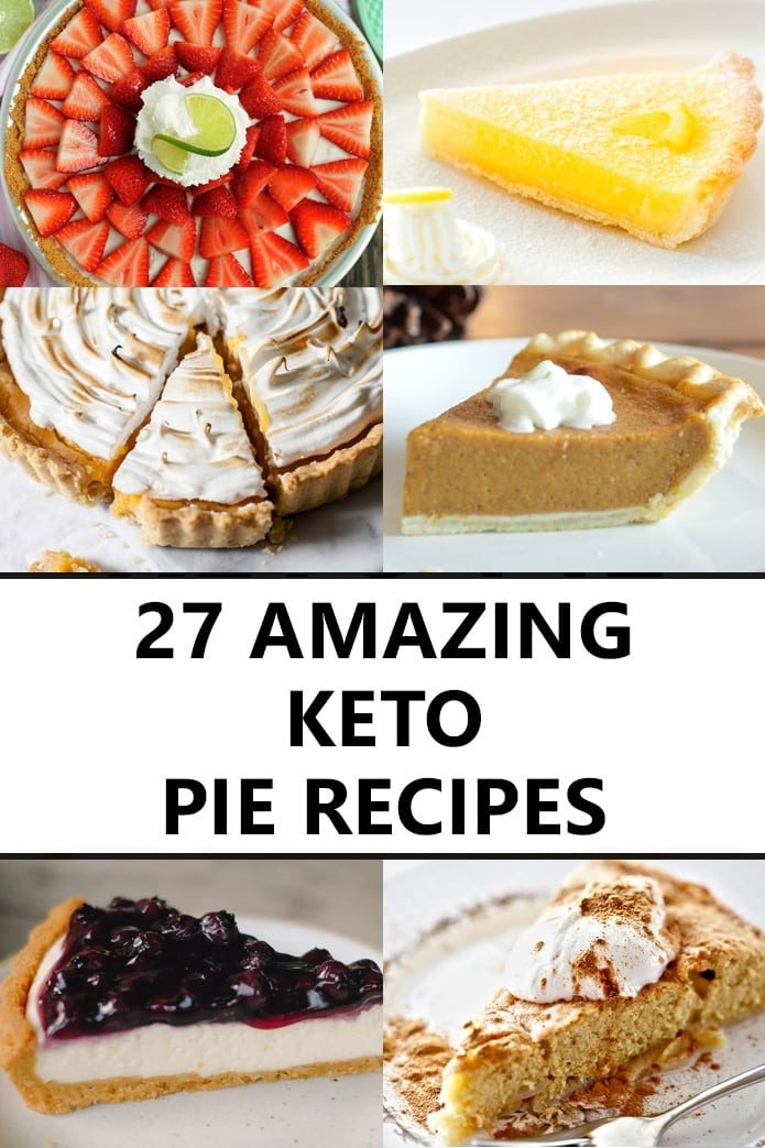 keto pies and low-carb pie crust recipes