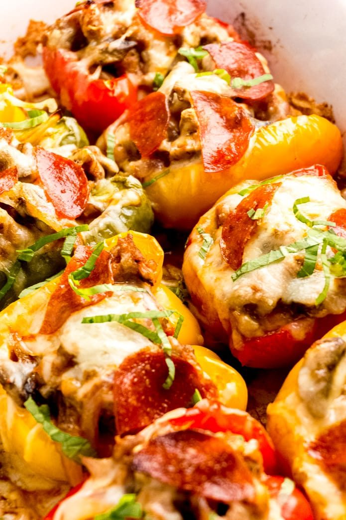 keto pizza stuffed peppers without rice