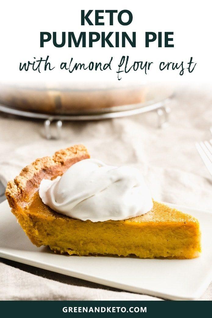 keto pumpkin pie with almond flour crust
