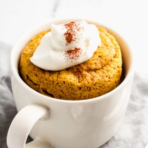 Keto Pumpkin Mug Cake