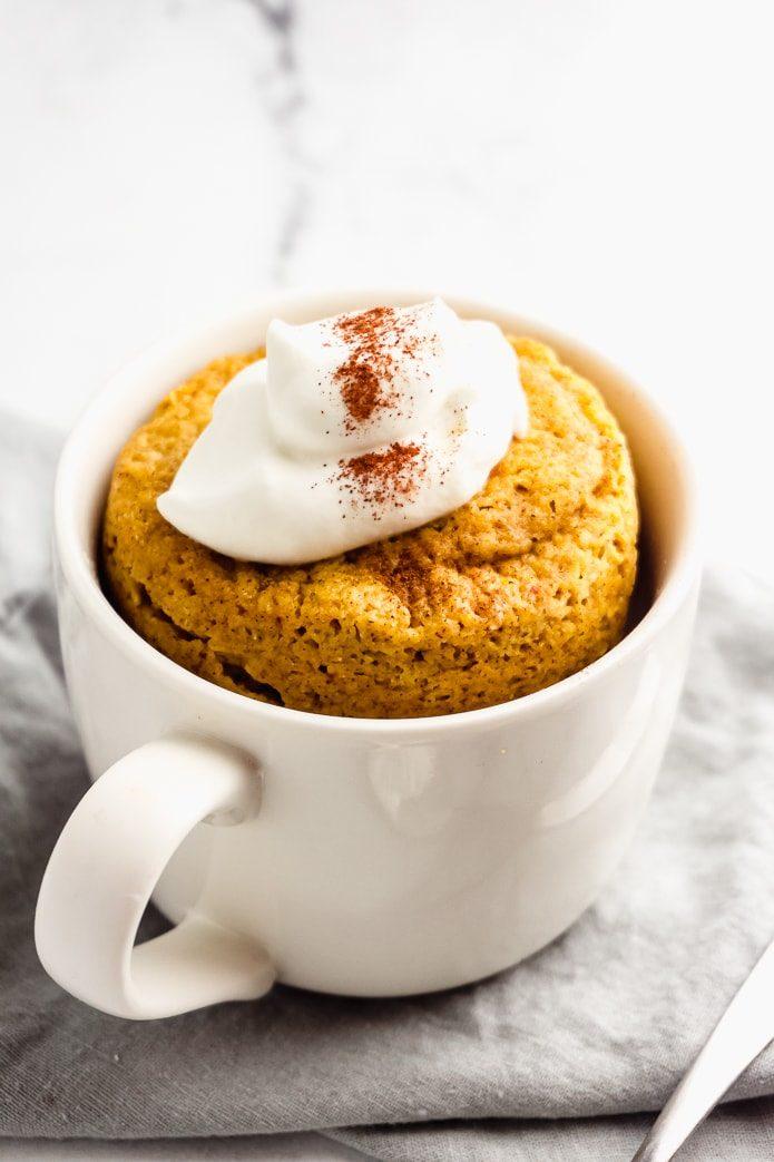 quick and easy keto pumpkin mug cake