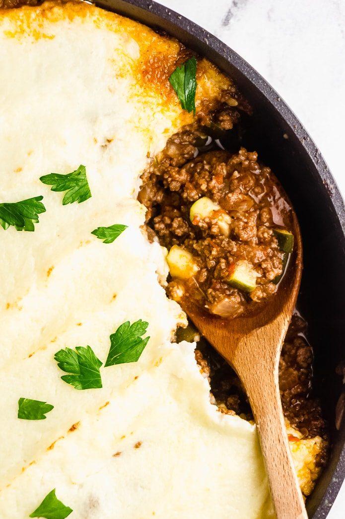 baked low-carb shepherd's pie casserole