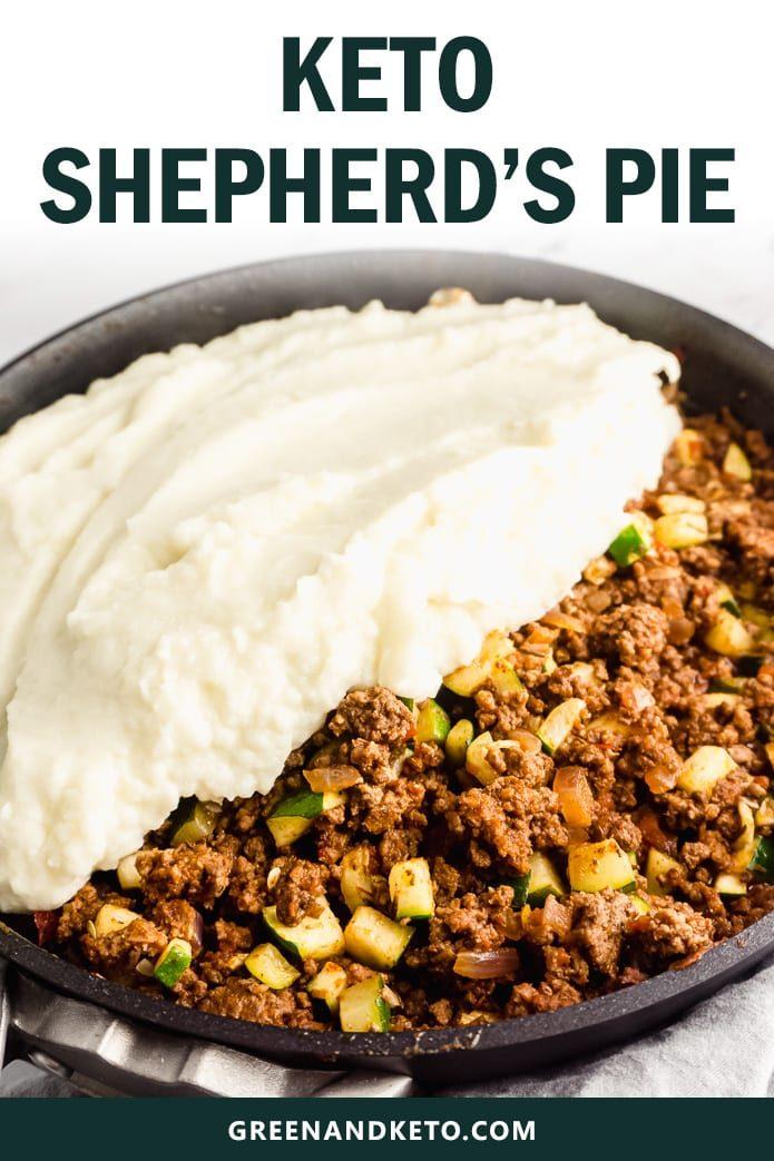 keto shepherd's pie with low-carb cauliflower mash