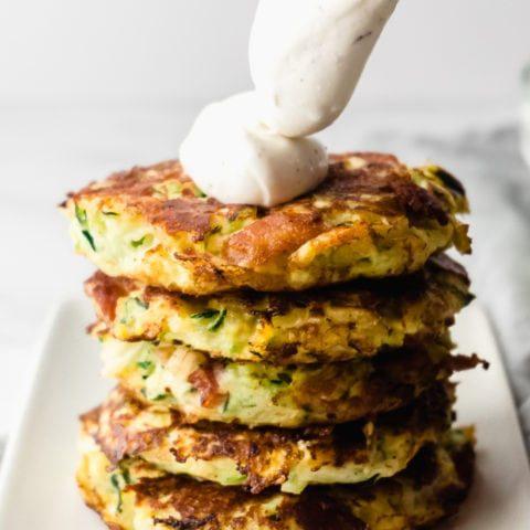 Crispy Keto Zucchini Fritters