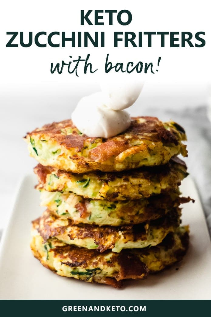 keto zucchini fritters with bacon