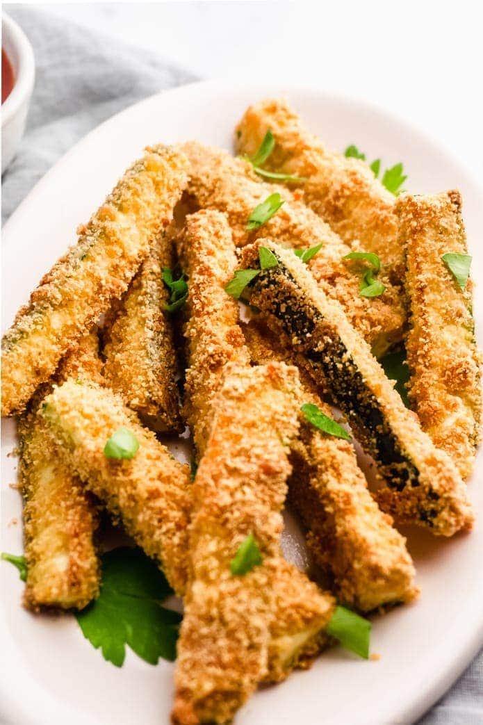 crispy gluten-free baked zucchini fries