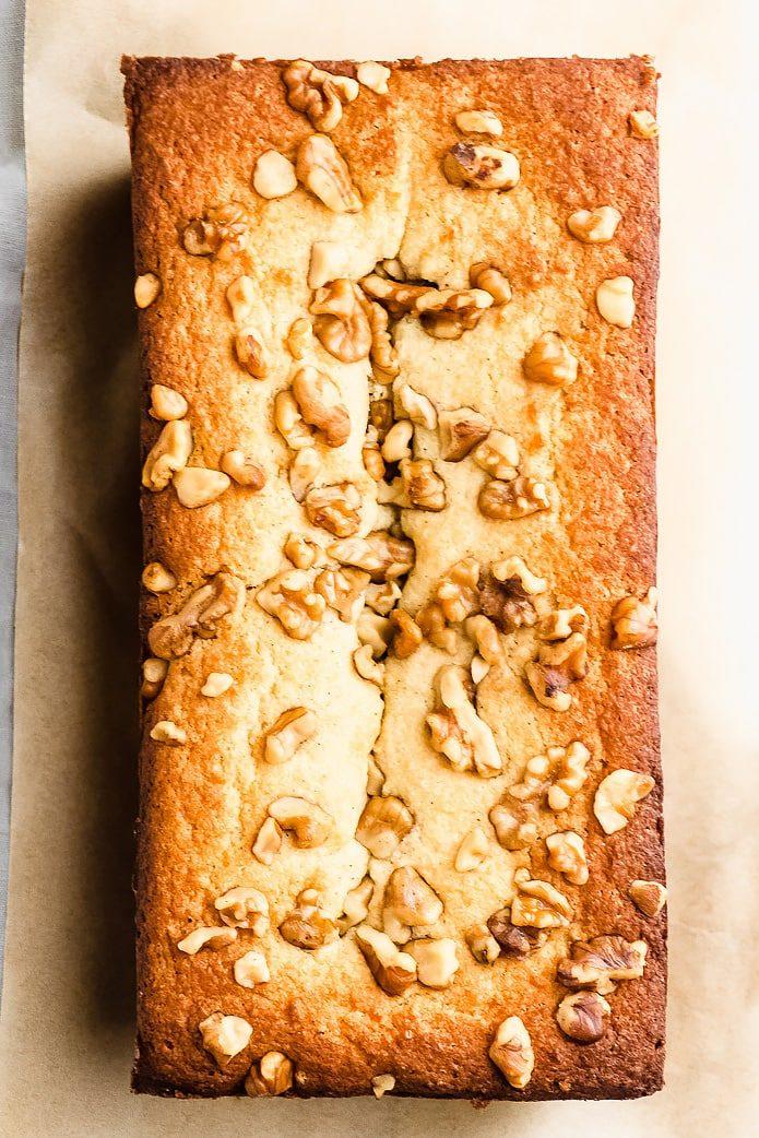 loaf of low-carb sugar-free banana bread
