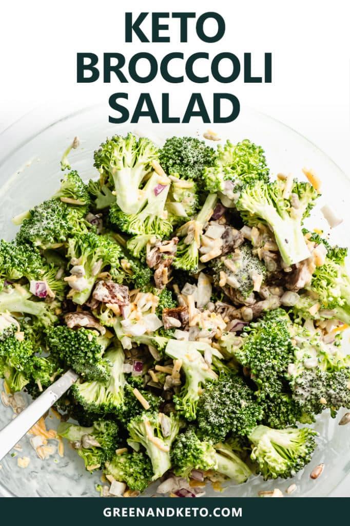 Keto Broccoli Salad with Bacon and Cheese