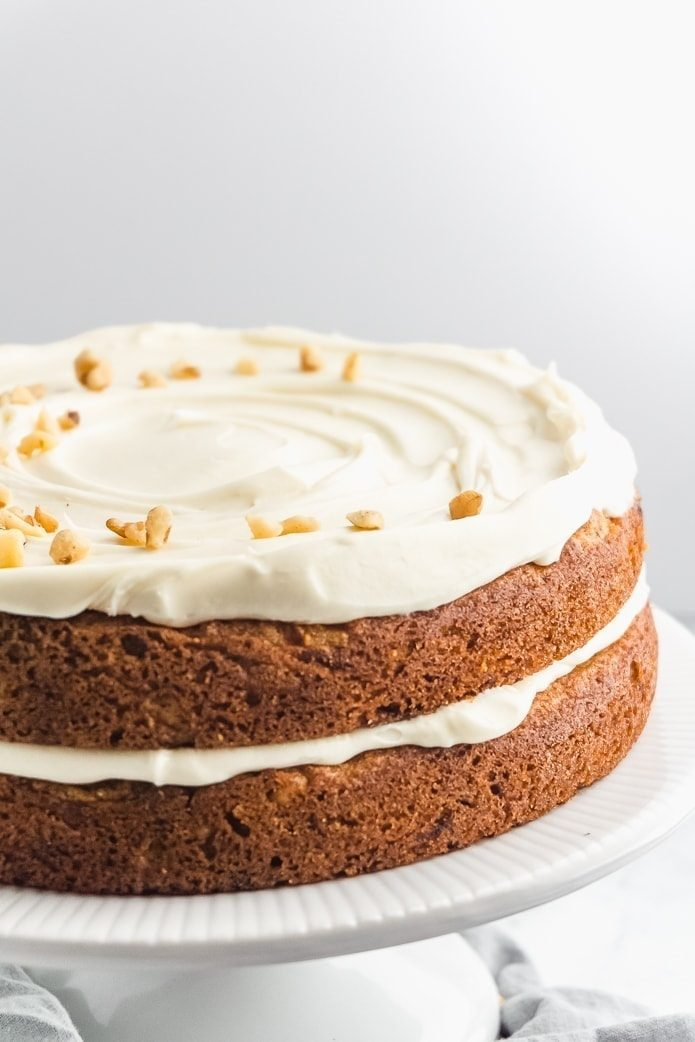 keto cream cheese icing on carrot cake layers