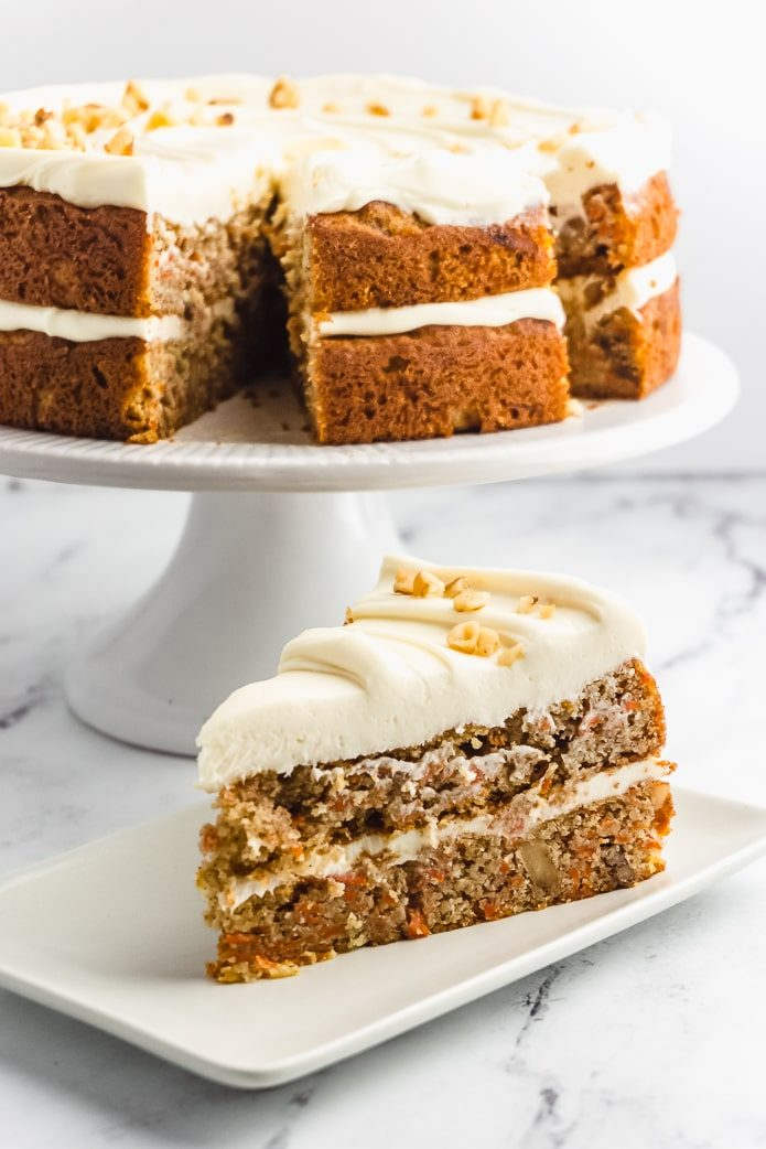 low-carb carrot cake with sugar-free frosting