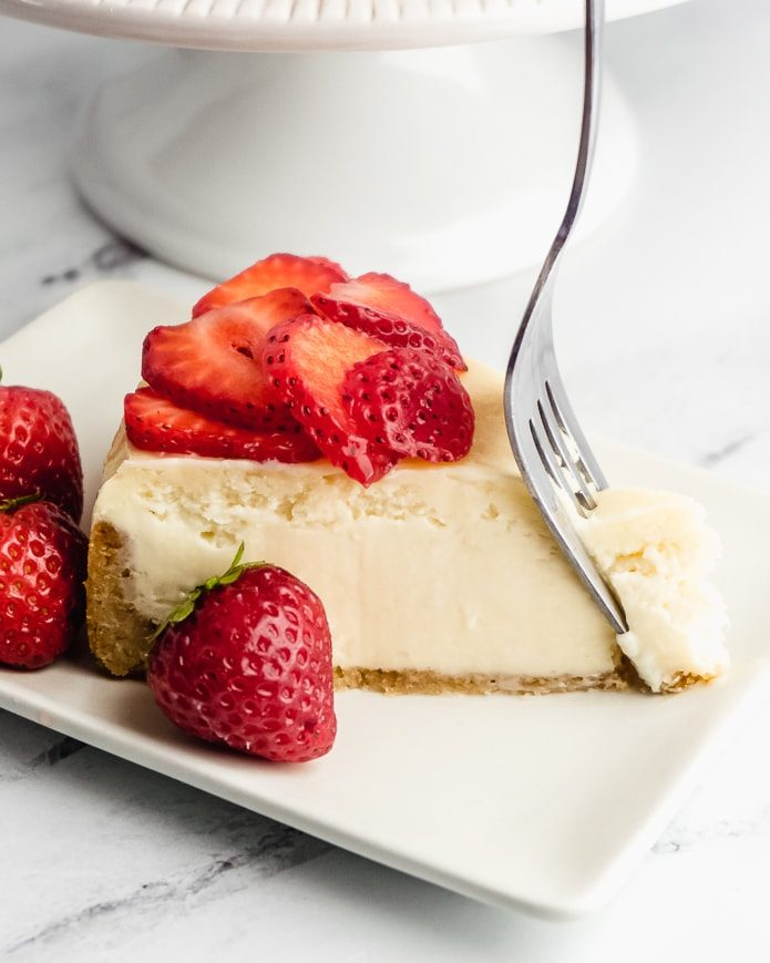 keto cheesecake with a low-carb almond flour crust