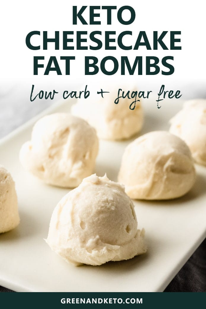 keto cheesecake fat bombs are low-carb and sugar-free