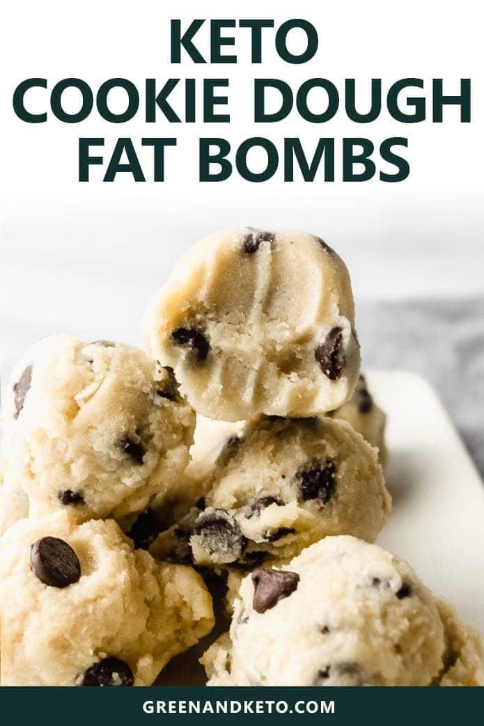 keto cookie dough fat bombs