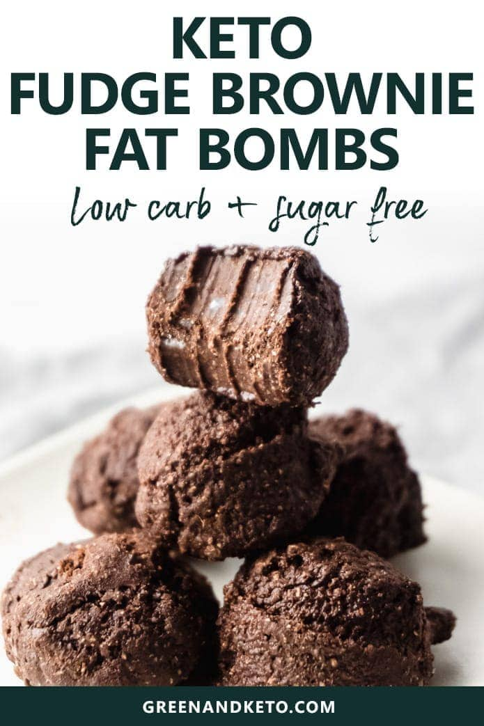 keto fudge brownie fat bombs are low-carb and sugar-free
